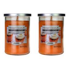 2 Yankee Candle Twin Wick Pumpkin Cupcake Glass Jar Lid Scented Fragrance 538g