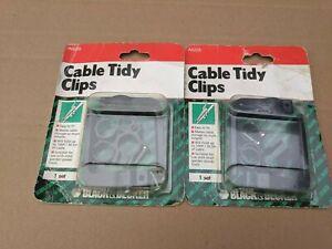 2 X BLACK & DECKER CABLE TIDY CLIP SETS