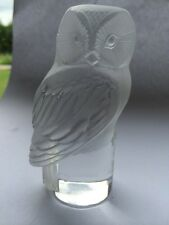 """Vintage Lalique Owl~""""Hibou""""~Paperweight~Figurine~Early Design~Collectible"""