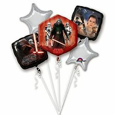 Star Wars Force Awakens Foil Balloon Bouquet Display Birthday Party Decoration