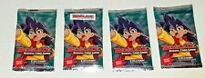 NEW! 4 SEALED BEYBLADE TRADING CARD GAME COLLISION DECALS 11 ADDITIONAL CARDS