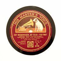 """AMBROSE ORCHESTRA """"Auf Wiedersehen, My Dear / Day By Day"""" HMV B-6170 [78 RPM]"""