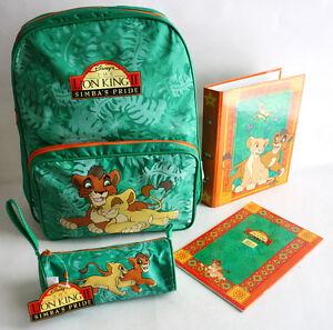 RARE VINTAGE LION KING 2 SCHOOL BAG PENCIL CASE NOTEBOOK RING BINDER GREEK NEW !
