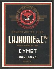 Conserves Lajaunie et Cie. Eymet Dordogne Perigord. Foies gras. 1950