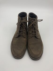 ECCO Leather Chukka Chukka Boot Men Size 46 Mocha