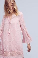 NEW $168 Anthropologie Esme Bell-Sleeve Dress 6 8 10  Pink