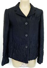 New Prada Italy $1064rt Black Silk Wool Blend Jacket Blazer sz 38 nwot