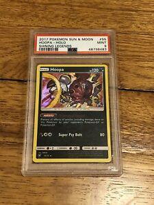 PSA 9 Pokemon Hoopa Sun & Moon Shining Legends Holo Card 55/73