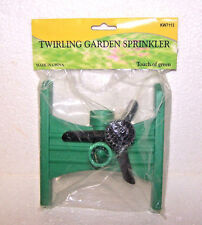 Rotating Sprinkler Water Lawn Garden Yard Outdoor Attach Garden Hose Plastic Nos