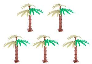 Set aus 5 Palmen 2 farbig 9tlg je Palme 45tlg Set für Lego®, Sluban® oder Cobi®