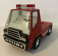 Vintage Nylint Fifth Wheel Emergency Fire Truck Cab Red Pressed Steel Car Siren