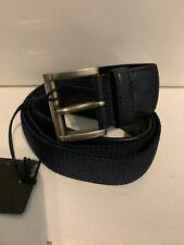 Prada - Men's Fabric Leather End Belt Size 34 85cm 2CN016 - Navy Blue