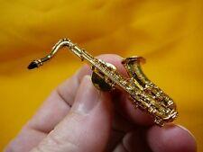 (M-202-A) TENOR SAX Saxophone tac pin 24k gold plated JEWELRY Selmer Mark VI