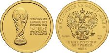 50 Rubel Russland St 1/4 Oz Gold 2018 FIFA World Cup in Russia Football Unc