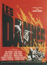 """LES DAMNES"" Affiche entoilée (Luchino VISCONTI / Dick BOGARDE, Ingrid THULIN)"