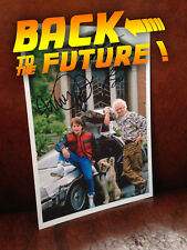 Photo Retour Vers le Futur 2 hoverboard Delorean Marty Doc Einstein autographe
