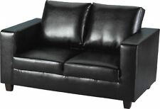 Excellent Quality 2 Seater Sofa Black Faux Leather - Brand New - Fast Delivery