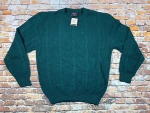 Men's Christian Dior Monsieur Crew Neck Knit Sweater Green Size Medium NWT