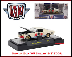 New Collectible M2 1/64 Diecast Car '65 Shelby GT 350R in Acrylic Display Case