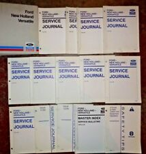 Ford New Holland Versatile 1994 Tractor Combine Baler Service Journal Manuals Nh