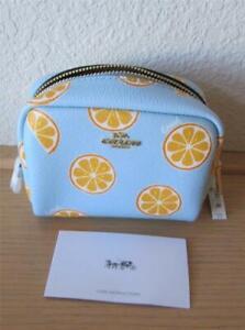 COACH Mini Boxy Cosmetic Case $78 NWT Style 2356 Orange Slice Free Ship