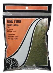 Woodland Scenics T44 Burnt Grass Fine Turf Bag 21.6 Cu. Inches for Diorama