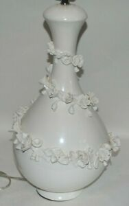 ROBERT ABBEY SWIRL FLORAL IVORY GLAZED Table Lamp SABRINA LILY