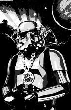 """Hip Hop Storm Trooper """"Black Light"""" Poster"""