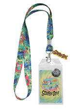Scooby Doo Great Dane Dog Tie Dye Lanyard ID Card Pin Holder w/rubber charm NWT