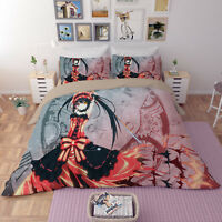 Nightmar Kurumi Bedding set Duvet/Quilt/Comforter Cover Pillowcase 1# anime Girl