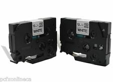 2 Pack Label Tape Brother Compatible TZe231 tze231  tz231 P-Touch Black on White