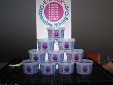 Lot of 10 Pint Mixing Cups 16 oz EZ Mix Solid and Filter Lids Plastic 70016