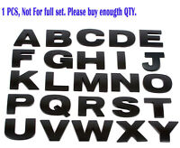 Individual Matte Black DIY Letter Alphabet 3D Car Badge Sticker Decal Emblem