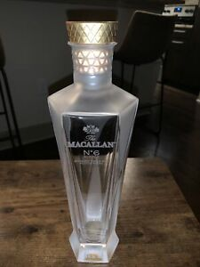 Extremely Rare!!! Empty Macallan No 6 In Lalique Decanter. Unrinsed.
