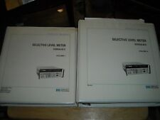 HP Selective Level meter 3586A/B vol I and II manual w/ change sheets used