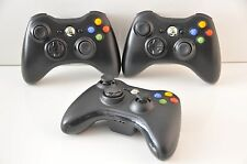 Official Microsoft xbox 360 Wireless Controller Lot of 3 Units (Glossy Black)