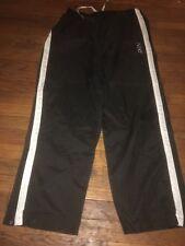 Vintage Gray Tag Nike Nylon Running Pants Joggers Men's Large Black Side zipper