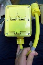 NEW Woodhead 3322E123 Angle Power Distribution Box 125V 20 A
