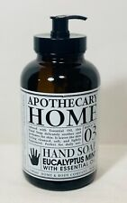 Apothecary HOME Eucalyptus Mint Hand Soap with Essential Oil Batch #3 GlutenFree
