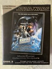 Code 3 Star Wars Empire Strikes Back Style A Movie Poster Sculpture Le 3000