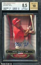 2010 TRISTAR Pursuit Autographs #10 Mike Trout RC 36/80 BGS 8.5 w/ 10 AUTO