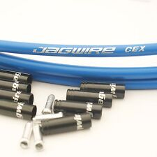 Jagwire Genuine Set Brake Gear Front Rear Inner & Outer Bike Cables Bicycle Blue