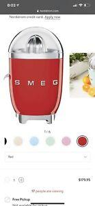 SMEG Retro Style Aesthetic 80 W Electric Citrus Juicer  RED, Brand  NEW