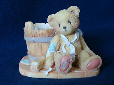 Cherished Teddies - Joshua - Bear With Wash Tub Figurine - 950556 - 1991