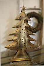 Tannenbaum Weihnachtsbaum Kerzenständer Windlicht gold Metall Sterne 65cm NEU