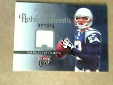 TOM BRADY, Fleer Ultra-Achievements  actual piece jersey