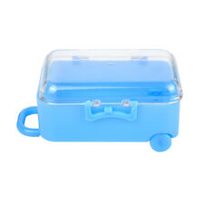 Creative Wedding Favors Party Mini Rolling Travel Suitcase Candy Box Blue