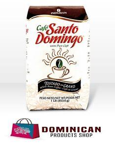 CAFE SANTO DOMINGO DOMINICAN WHOLE BEAN COFFEE 1 POUNDS 454 GRAMS BAG