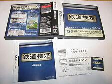 Tetsudou Kentei Nintendo DS NDS Japan import