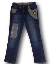 Pantaloni jeans denim Biancaneve Disney Original Marines bimba bambina 10 anni